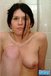 black haired chick with