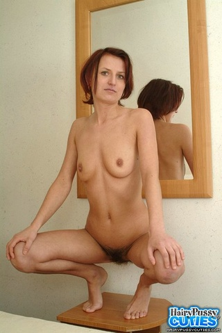 small breasted redhead white