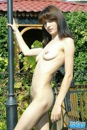 slender brunette with big
