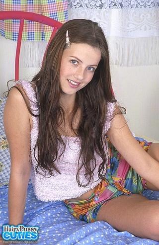 long haired brunette white