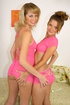 Blondes in pink outfits get their tight holes ruined