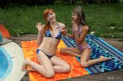 redhead teen blue bikini