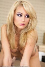 foxy blonde displays her