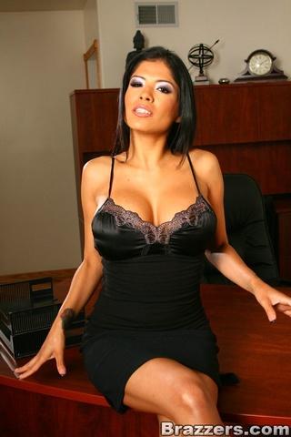 businessman seduced tan slut