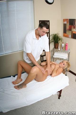 horny blonde milf massage