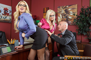 blonde office sluts eyeglasses