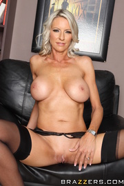 blonde milf blue and