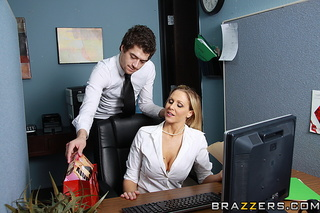 blonde business woman boffed