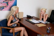 two slender blondes with