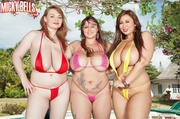 hot brunettes red purple