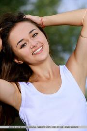 brunette teen with grey