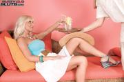 horny blonde milf blue