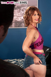 horny mama purple top