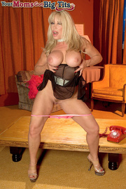 sexy blonde milf with