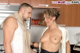 horny blonde mom dark