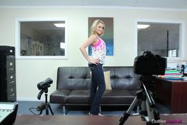 blonde, casting, teen, tits