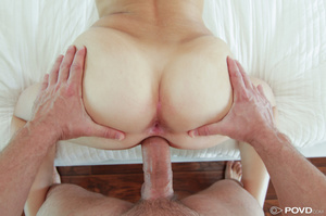 Meaty blonde coed gets jizz on her twat  - Picture 14
