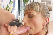 sexy blonde housewife gets