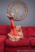 blonde milf red lingerie