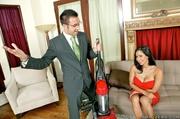 brunette housewife gets deal