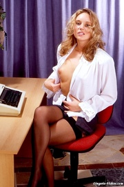 steaming hot blonde secretary