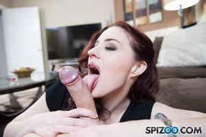 Steaming hot redhead in black shirt, pan - XXX Dessert - Picture 7