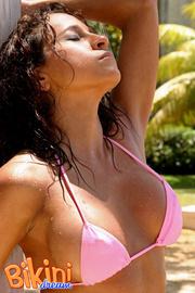 stunning chick pink bikini