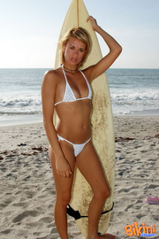blonde hottie white bikini