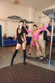 two bitches latex boots