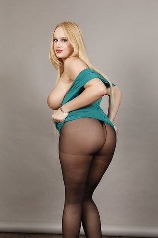 voluptuous blonde slut wearing