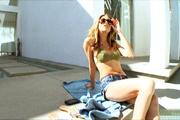 sexy slut outside sunbathing