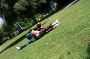cute interracial couple enjoys