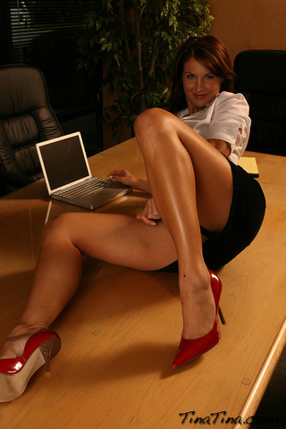 smoking hot secretary teases