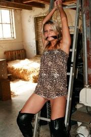 busty blonde tight dress