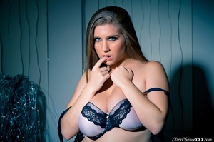 Pinkish panties BBW shows off her hairy  - XXX Dessert - Picture 2