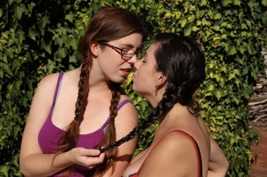 Cute chicks in pigtails display their ba - XXX Dessert - Picture 2
