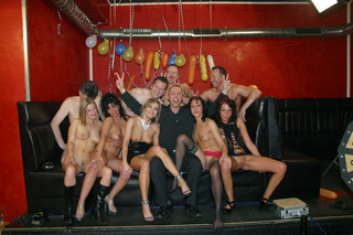 blonde shared sex party