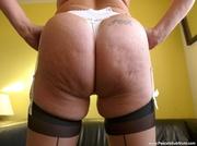 blonde granny black stockings