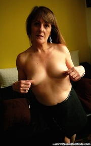 brunette granny with pierced