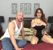 Leashed and collared MILF sex slave gets fucked raw