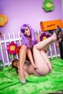 Purple wig tanned hottie fucking her fairytale GF
