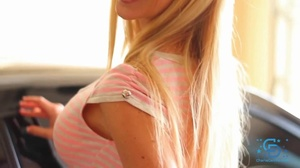 Blonde in a striped get-up decides to ma - XXX Dessert - Picture 4