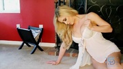 angelic milf blonde masturbating