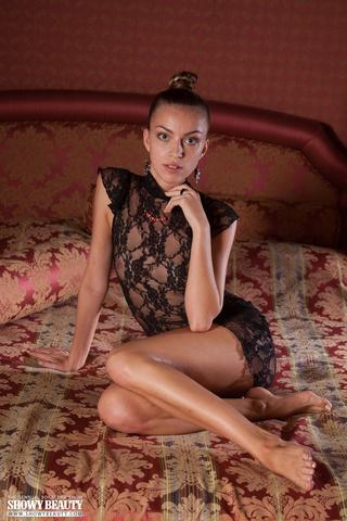 indulging babe teases luscious