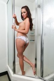 white panties brunette gets
