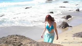 bikini, individual model, redhead