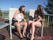 two young-looking babes skirts