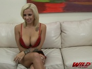 bleached blonde with massive