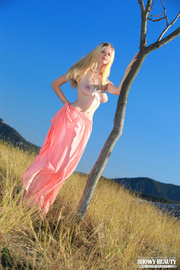 steaming hot blonde pose