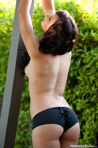 wavy-haired blue-eyed brunette black